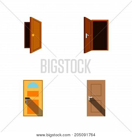 Flat Icon Approach Set Of Entrance, Entry, Approach And Other Vector Objects
