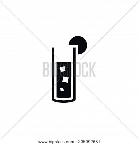 Beverage Vector Element Can Be Used For Cocktail, Margarita, Beverage Design Concept.  Isolated Cocktail Icon.