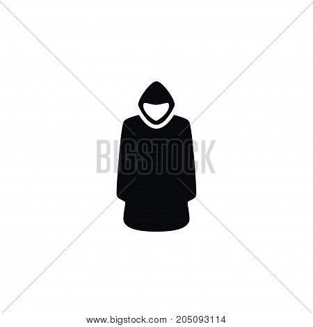 Cloak Vector Element Can Be Used For Cloak, Hood, Jacket Design Concept.  Isolated Hood Icon.
