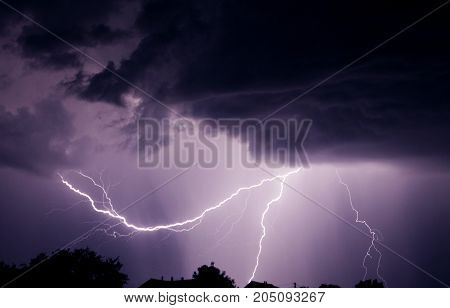 Lightning with a thunder. Bad weather concepte.