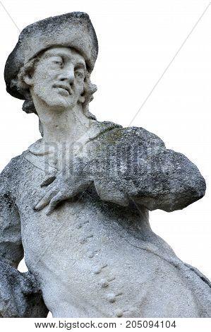 baroque statue st.Wendel patrons of shepherds art