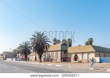 SWAKOPMUND NAMIBIA - JUNE 30 2017: The Namib Primary School in Swakopmund in the Namib Desert on the Atlantic Coast of Namibia