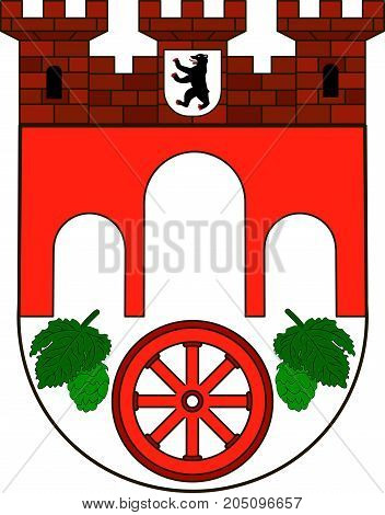 Coat of arms of Pankow is the borough of Berlin Germany. Vector illustration from the