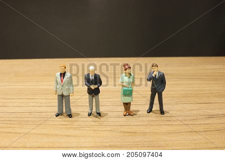 Fun Of Busines People On A Table
