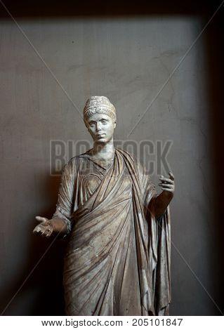 Vatican city Vatican - May 17, 2012: Art and Sculpture at Vatican Museum