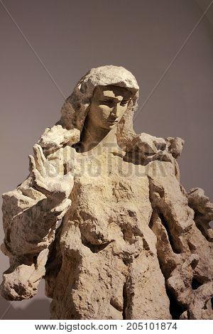 Vatican city Vatican - May 17, 2012: Madonna by Lucio Fontana in Vatican Museum