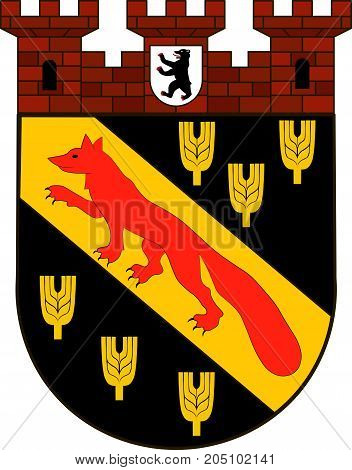 Coat of arms of Reinickendorf is the twelfth borough of Berlin Germany. Vector illustration from the