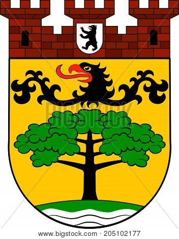 Coat of arms of Steglitz-Zehlendorf is the sixth borough of Berlin Germany. Vector illustration from the