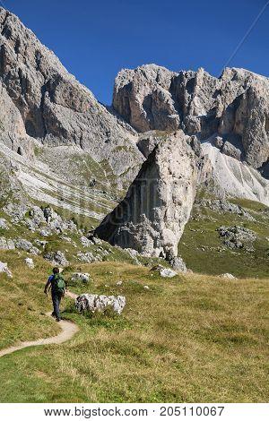 Giant rocks in Val di Gardena, Dolomites, Italy