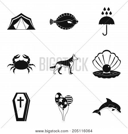 Accident icons set. Simple set of 9 accident vector icons for web isolated on white background