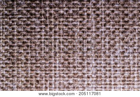 Grey fabric background made of wool textile