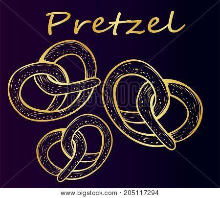 Delicious pretzels for beer - Oktoberfest. Delicious salty snack - snack to beer - Oktoberfest beer festival