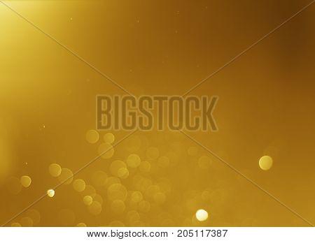 Glitter Light Abstract Gold Bokeh Christmas Blurred Background