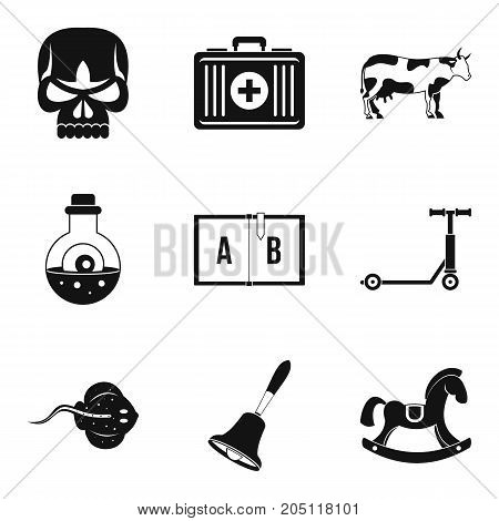 Academic year icons set. Simple set of 9 academic year vector icons for web isolated on white background