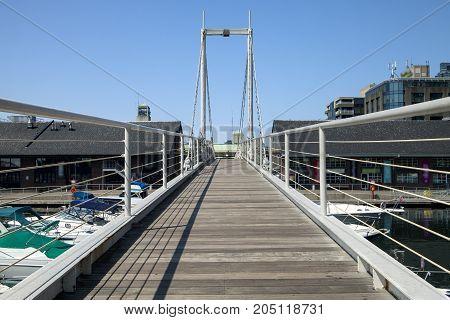 The Amsterdam Bridge footbridge in Toronto Canada