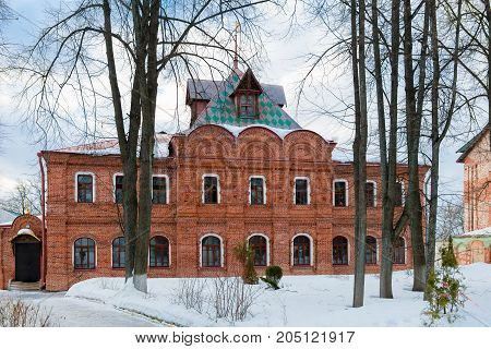 The monastery refectory with cells Spaso Blachernae convent in Dedenevo Moscow