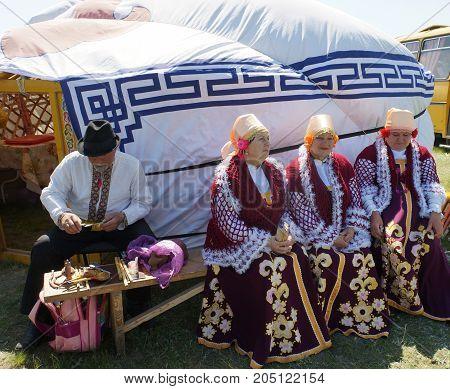Trip to Kalmykia on 25 April 2015. National dwelling of the people of Kalmykia. Inside The Yurt.