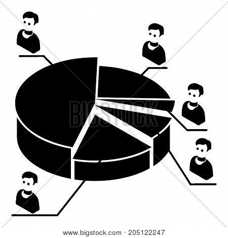 Election diagram icon. Simple illustration of election diagram vector icon for web design isolated on white background