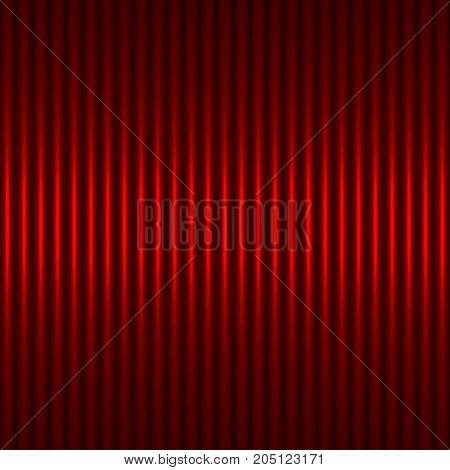 Red abstract background with strips. The idea for the business card