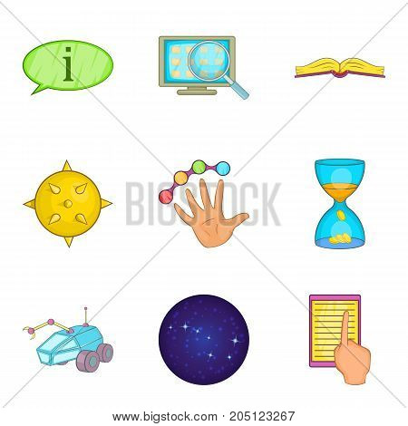Problem solving icons set. Cartoon set of 9 problem solving vector icons for web isolated on white background