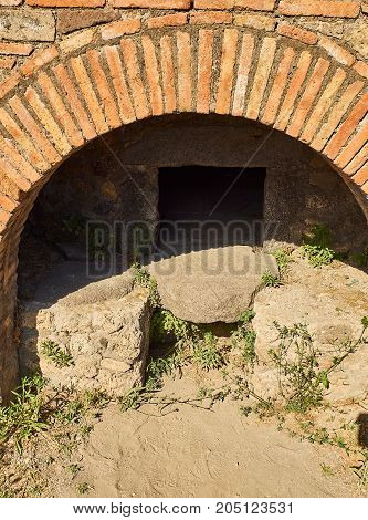 Ruins Of Pompeii, Ancient Roman City. Pompei, Campania. Italy.