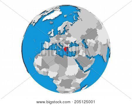Greece On Globe Isolated