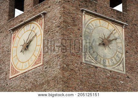 Tower of Castelvecchio fortress in Verona Italy