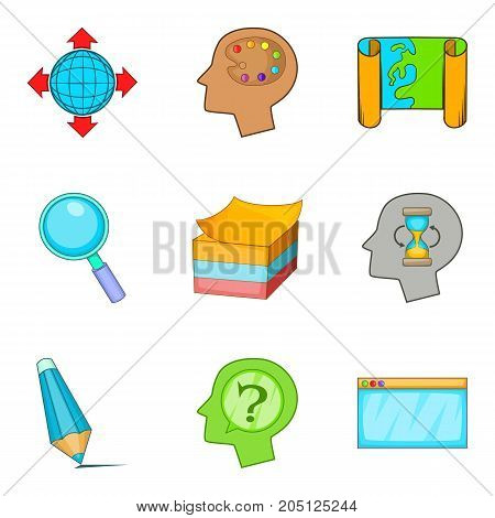 Excellent leader icons set. Cartoon set of 9 excellent leader vector icons for web isolated on white background