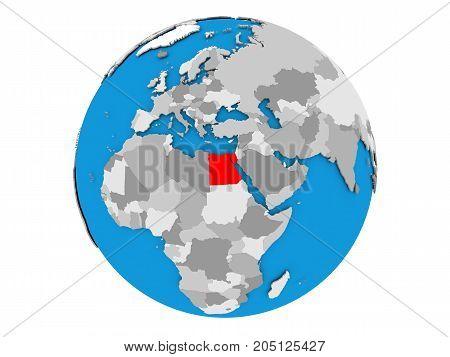 Egypt On Globe Isolated