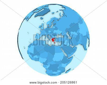 Greece On Blue Globe Isolated