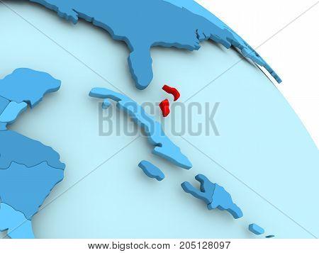 Bahamas On Blue Globe