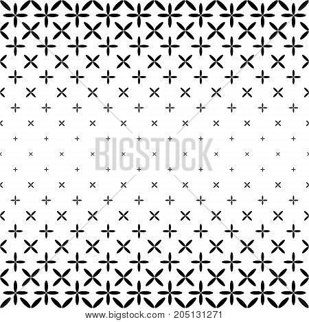 Monochromatic star pattern border design - geometrical abstract vector background graphic