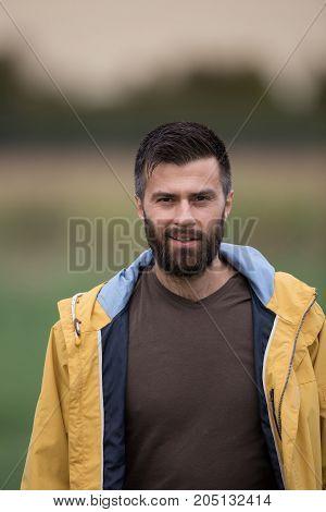 Portrait Of Handsome Guy Outdoor