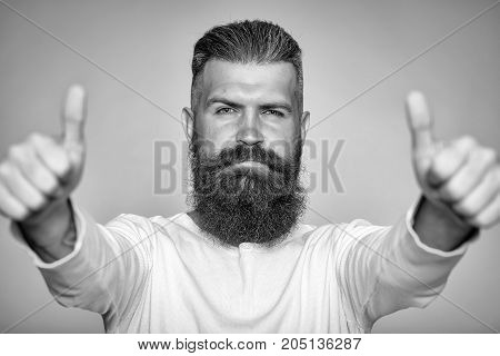 Bearded Man With Super Gesture