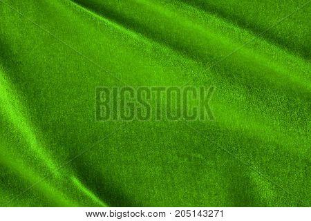 Green Silk Velvet Texture And Background