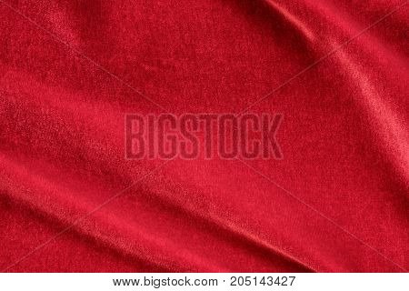 Red Silk Velvet Texture And Background