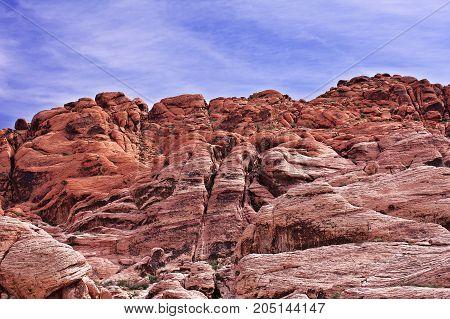 Desert Rocks and Cliffs. Red Rock Nevada.