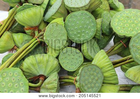 lotus seed at street food with nature