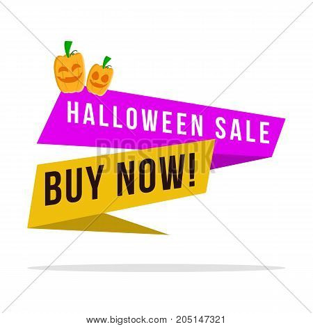 Big Sale Halloween style collection vector illustration