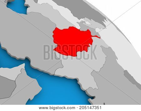 Afghanistan In Red On Map