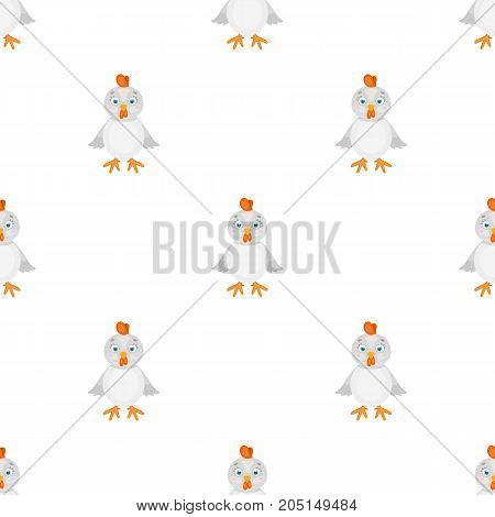 Chicken single icon in cartoon style.Chicken, vector symbol stock illustration .