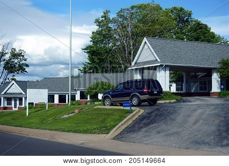 PETOSKEY, MICHIGAN / UNITED STATES - JUNE 19, 2017: Vital Care offers adult day care services in Petoskey.