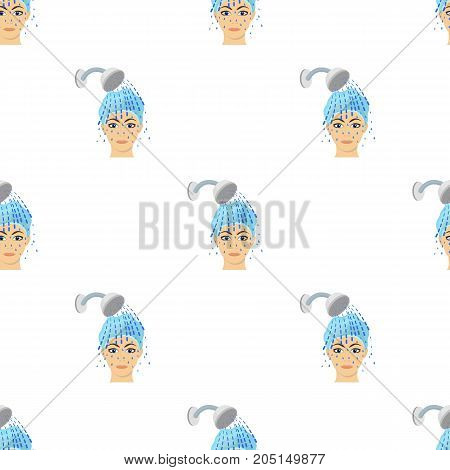 Girl, single icon in cartoon style.Girl vector symbol stock illustration .