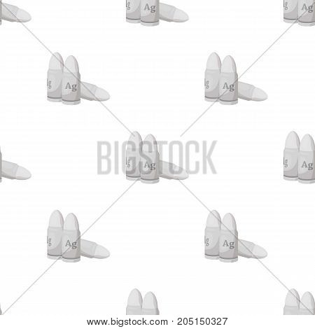 Bullet single icon in cartoon style.Bullet, vector symbol stock illustration .