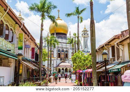 Historic Masjid Sultan Mosque In Singapore