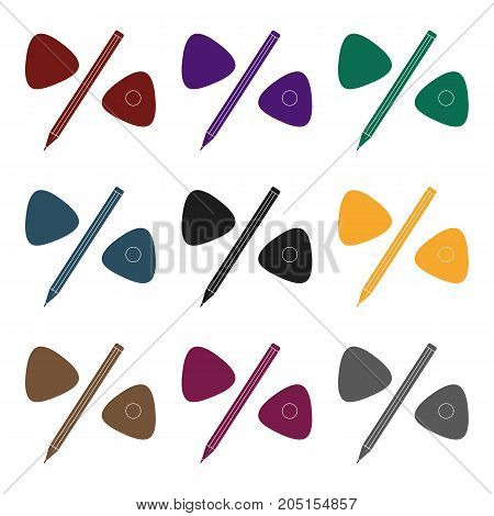 Pencil and sewing wash.Sewing or tailoring tools kit single icon in black style vector symbol stock web illustration.