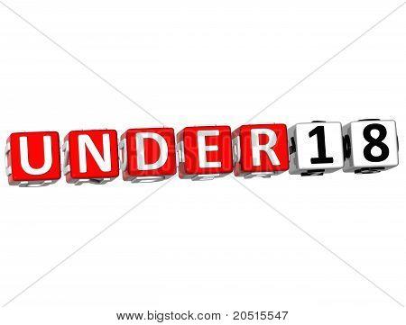 3D Under Eighteen
