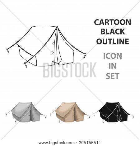 Tourist tent.African safari single icon in cartoon style vector symbol stock illustration .