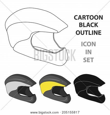 Protective helmet for cyclists. Protection for the head athletes.Cyclist outfit single icon in cartoon style vector symbol stock web illustration.