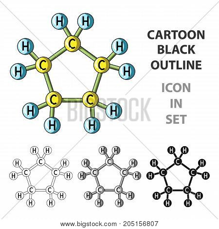 Chemical oil formula.Oil single icon in cartoon style vector symbol stock illustration .